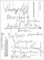 Cartolina a ricordo della presentazione dei Vangeli in friulano (12/07/1970)